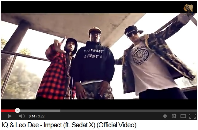 """IQ & Leo Dee - """"Impact"""" (ft. Sadat X) (Москва, 2013)"""